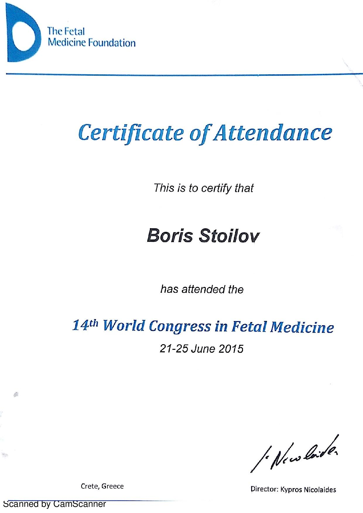 World Congress in Fetal Medicine - 2015