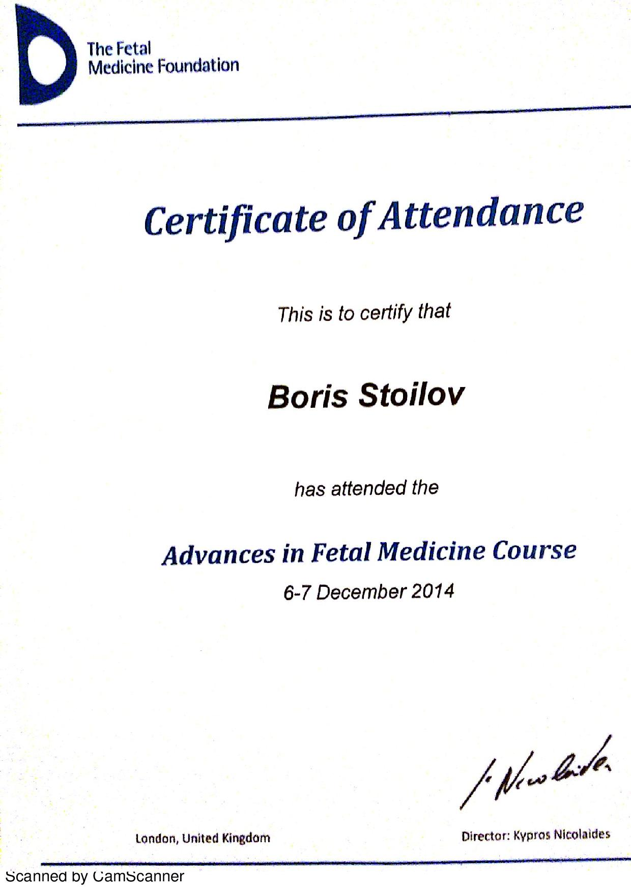 Advances in Fetal Medicine Course - 2014