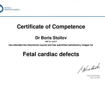 Certificate of competence in Fetal Cardiac Defects