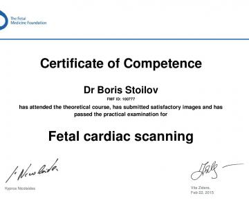 Certificate of competence in Fetal Cardiac Scanning